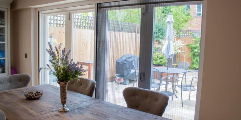 Pleated Fly Screens On Bifold Doors