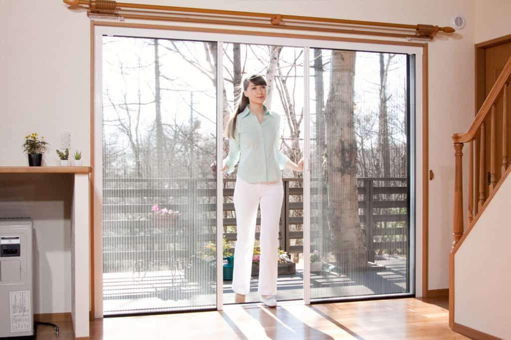 concertina fly screen door