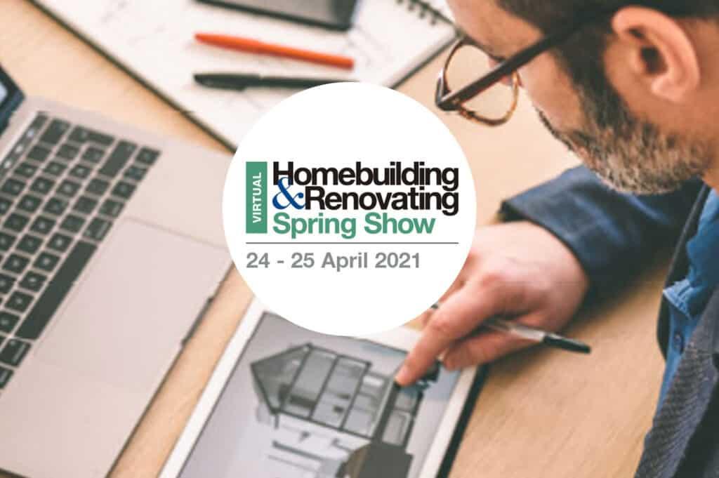 Homebuilding and renovating spring show logo - Virtual event 2021
